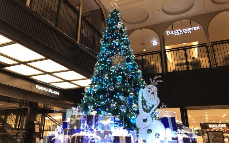 東急プラザ銀座クリスマスでB2Fのエントランスに設置していた「アイスツリー」