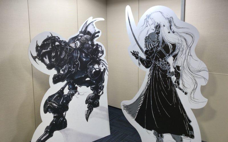 ファンタジーアート展の会場内にあるセフィロスのフォトスポット
