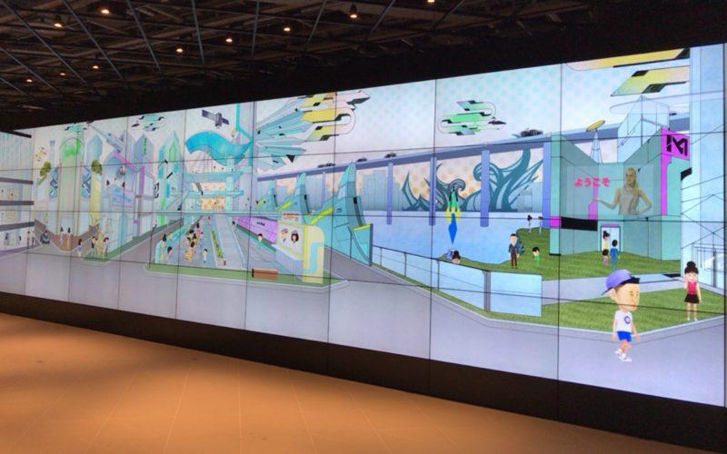 東急プラザ銀座1~3Fのメトアギンザで開催したFeel the Communication in Ginzaの2Fで上映したInto the future