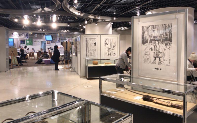 KITTE丸の内B1Fの東京シティアイで開催したゴールデンカムイとアイヌ文化展の会場内