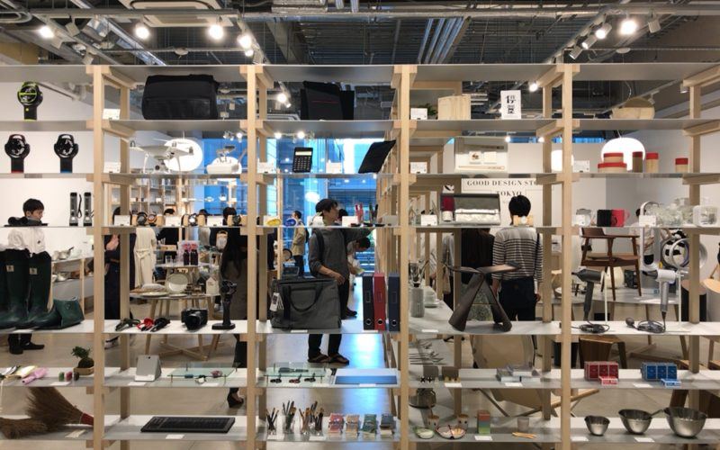 KITTE 3FにあるGOOD DESIGN STORE TOKYO by NOHARAの店内