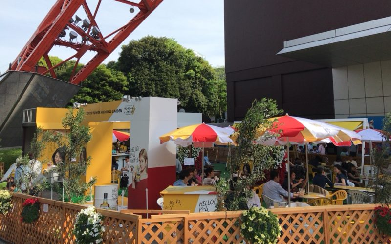 東京タワーの1F正面玄関前にオープンしたハイボールガーデン