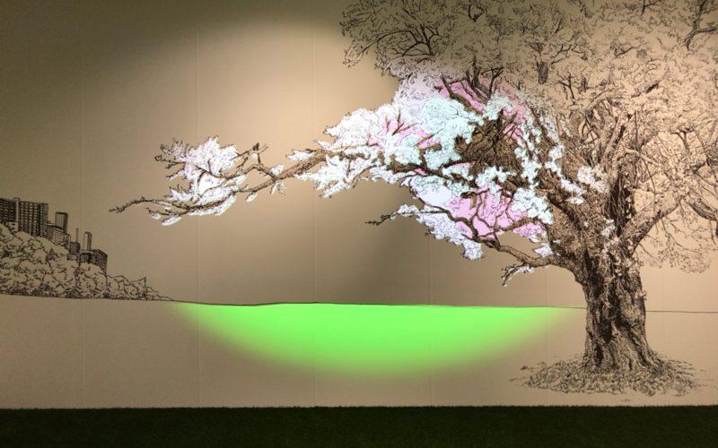 It's a Sony展 Part-2に展示されていた桜の木のウォールアート