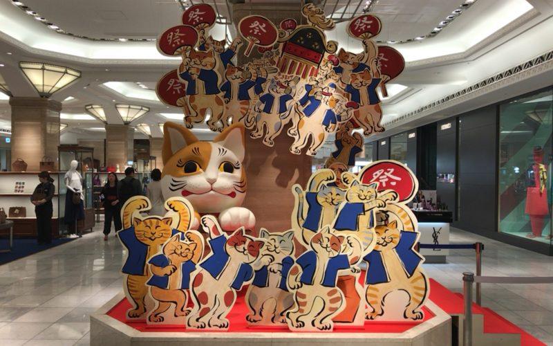 日本橋三越の本館1Fに展示していたねこ・猫・ネコまつりのフォトスポット