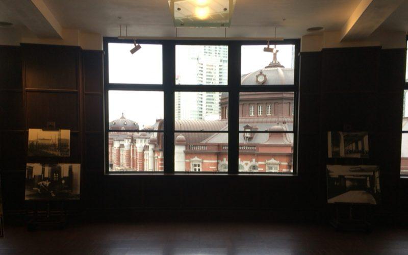 KITTE丸の内4Fにある旧郵便局長室から見える東京駅