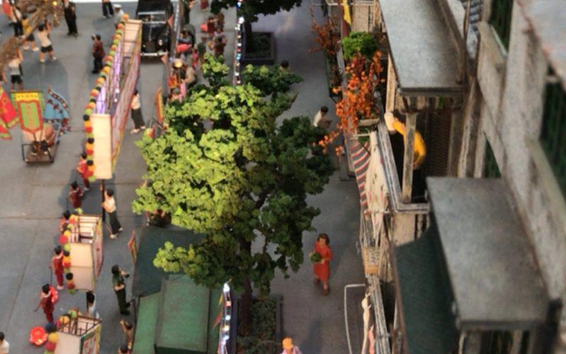 香港ミニチュア展に展示していたミニチュア作品で再現した香港の街なみ