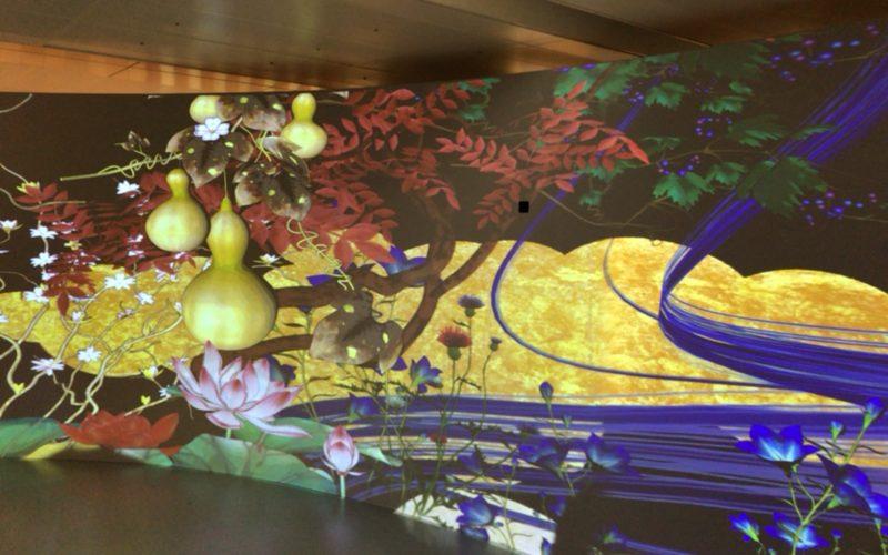 行幸地下ギャラリーで開催した「視線で花咲くアート展」の展示作品