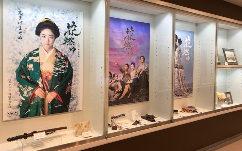 NHKスタジオパークにあるドラマライブラリーの展示
