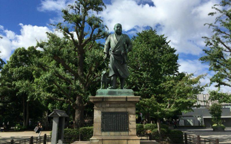 上野公園の西郷隆盛像