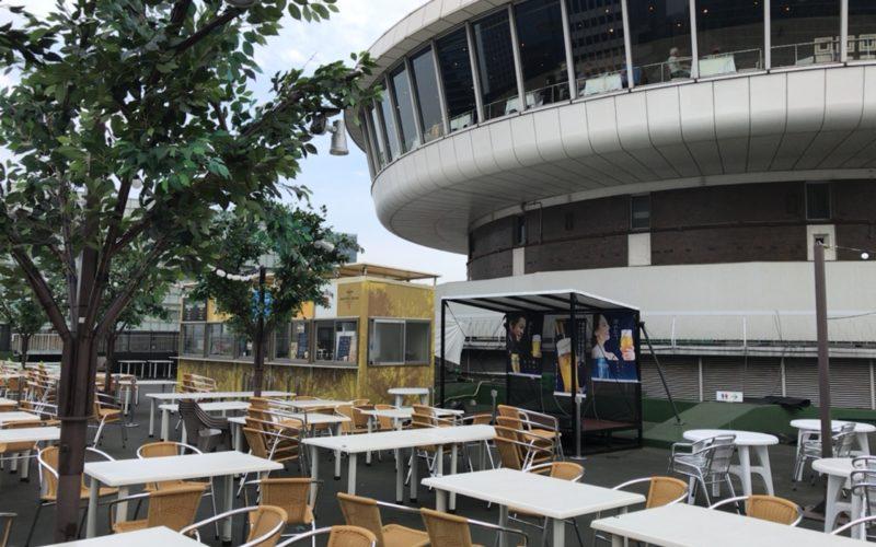 東京交通会館13Fに期間限定でオープンした銀座スカイビアテラスの会場内