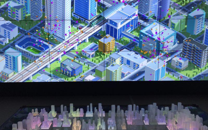 「Smooth Access City 都市の未来へ、行ってみよう」の2Fで上映していたSmooth Access Innovation