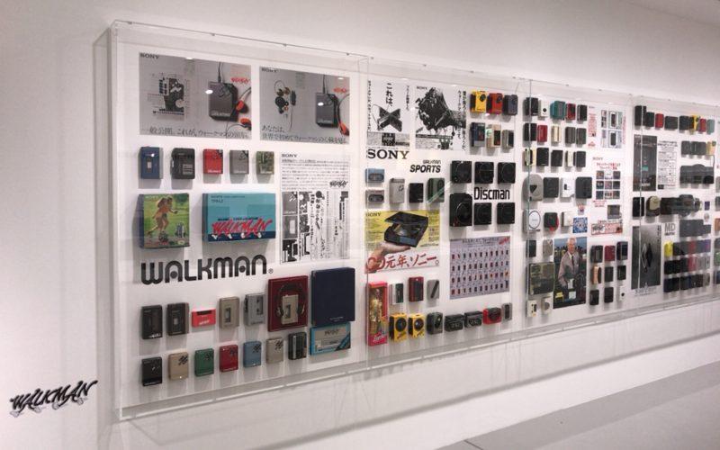 銀座ソニービルで開催したIt's a Sony展のウォークマンコーナー