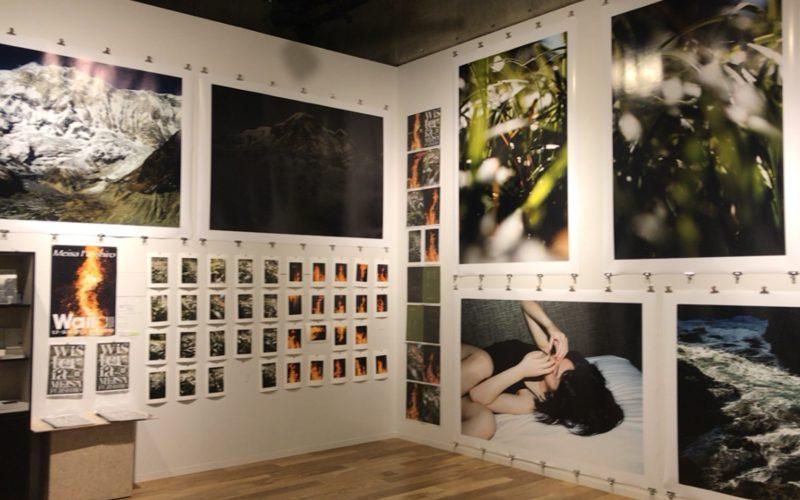 銀座ソニービル6Fの本屋 EDIT TOKYOで開催された藤代冥砂写真展 Wallallの会場内
