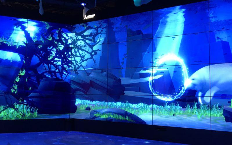 東急プラザ銀座のメトアギンザで開催した「Water Journey in Ginza 水の循環でつながる世界」の会場で上映していた映像作品