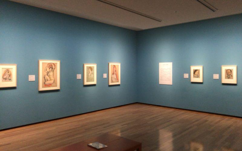 国立西洋美術館の版画素描展示室で開催した「モーリス・ドニの素描-紙に残されたインスピレーションの軌跡」の会場内