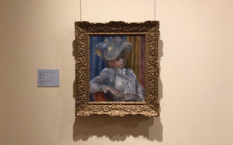 国立西洋美術館に展示されているルノワールの帽子の女