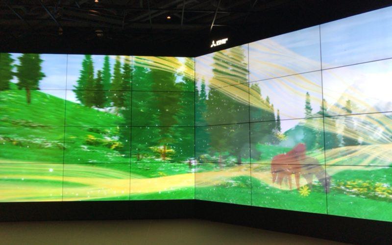 「Wind Lab in Ginza 風と遊べるテクノロジー空間」の2Fで上映した映像作品「Be the Wind」