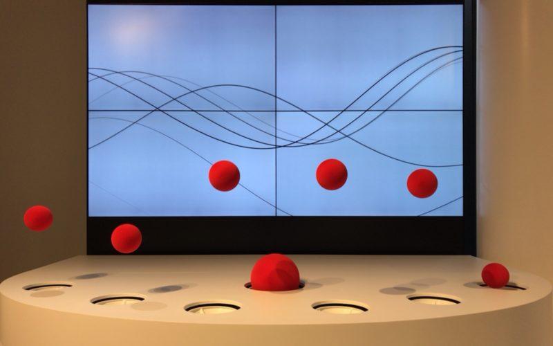 「Wind Lab in Ginza 風と遊べるテクノロジー空間」の3Fに展示していたインスタレーション