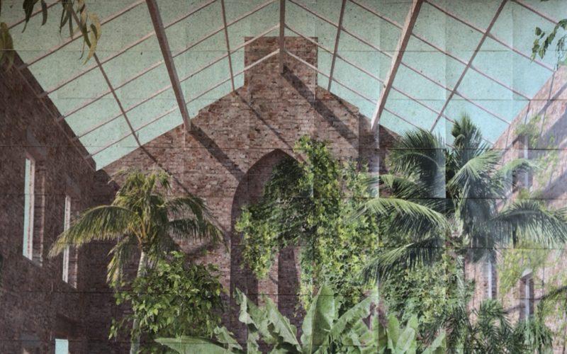 「アセンブル_共同体の幻想と未来」展に展示していたウィンター・ガーデンのイメージ図