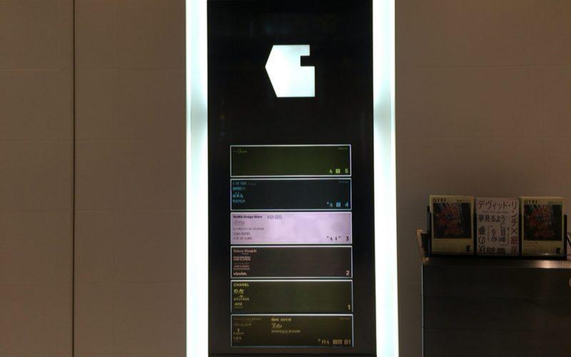 ジャイル3Fのエレベーター前にあるフロアマップ