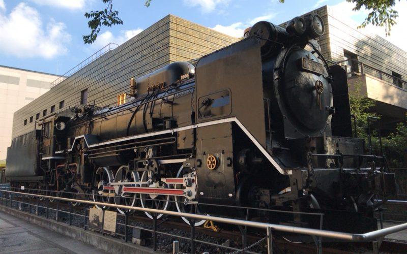 国立科学博物館の屋外にあるD51形蒸気機関車