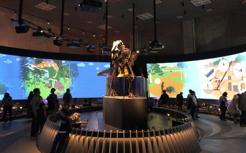 国立科学博物館の地球館1Fにある地球史ナビゲーターのエリア