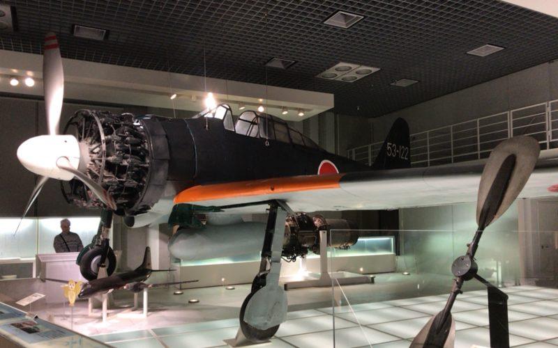 国立科学博物館の地球館2Fに展示しているゼロ戦