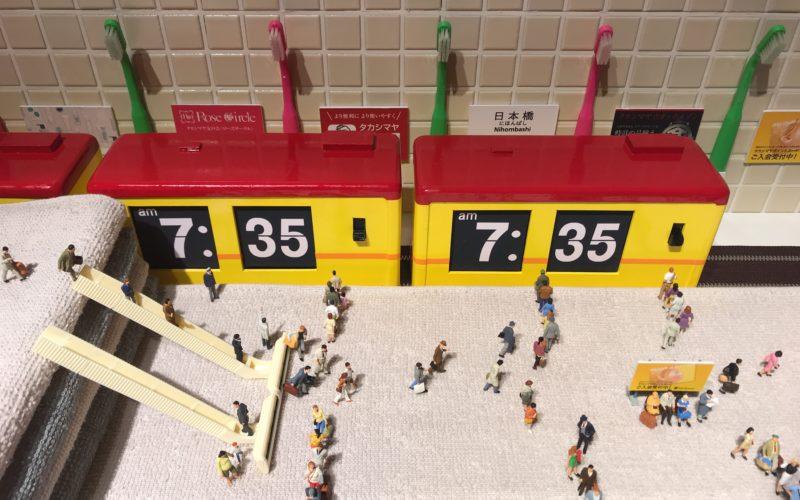 日本橋高島屋8Fの催事場で開催した「ミニチュアライフ展 田中達也 見立ての世界」の展示作品