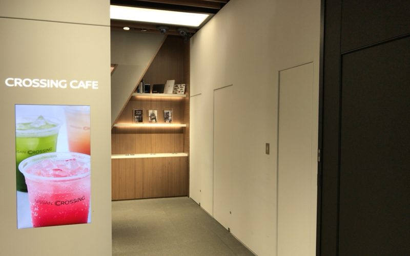 銀座プレイス2Fにあるクロッシングカフェの入口