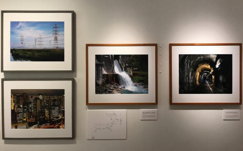 ソニーイメージングギャラリーで開催した「吉村和敏 作品展 POND & RIVER 錦鯉×発電所」に展示していた作品シリーズ「RIVER」