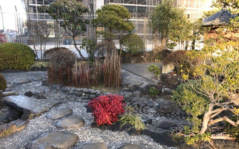 日本橋高島屋の屋上トップアイランドの日本庭園