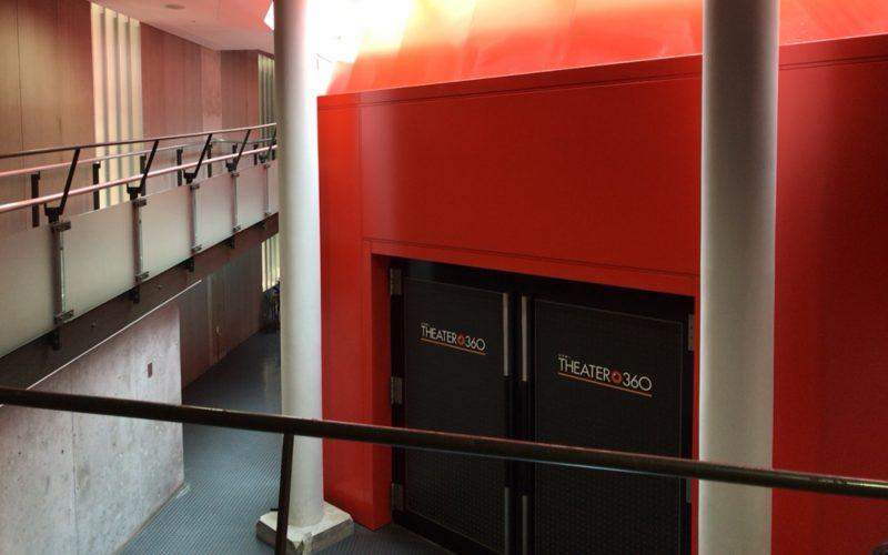 国立科学博物館の日本館B1Fにあるシアター360の入口