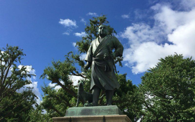 上野公園にある西郷隆盛像