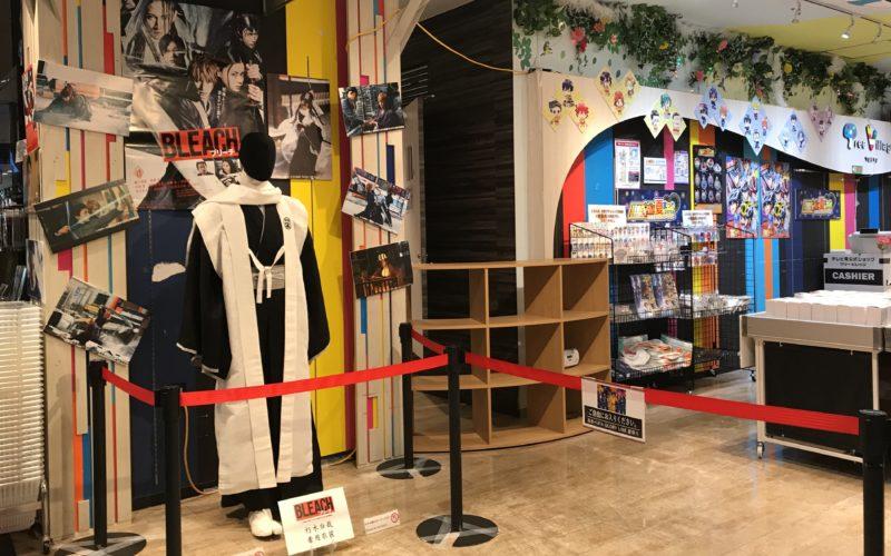 東京ソラマチ4Fのテレビ局公式ショップ ツリービレッジに展示していた実写映画「BLEACH」の六番隊隊長 朽木白哉の衣装