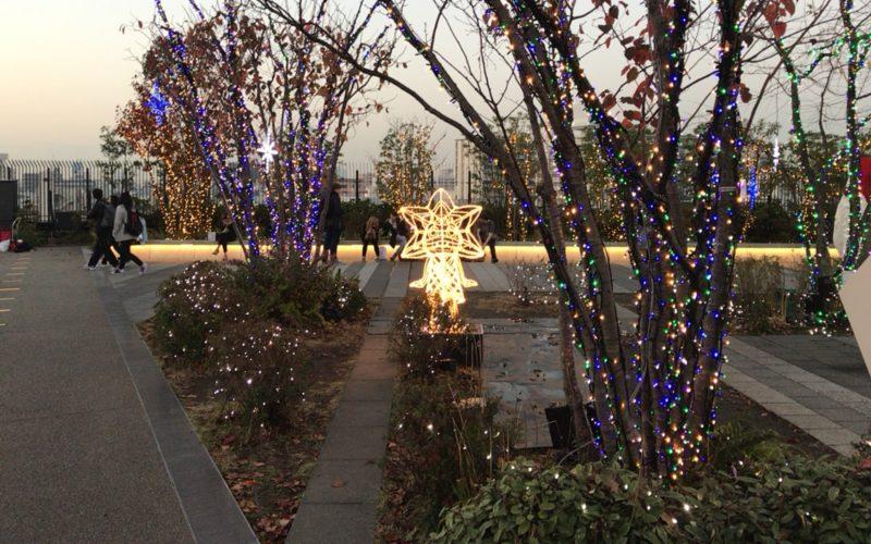 4Fスカイアリーナで行われた東京スカイツリータウン ドリームクリスマス2016のイルミネーション