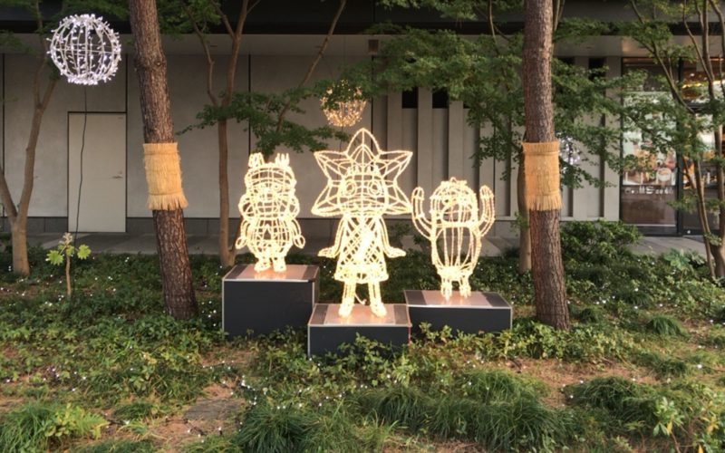 東京ソラマチ4Fに点灯していた東京スカイツリータウン ドリームクリスマスのイルミネーション