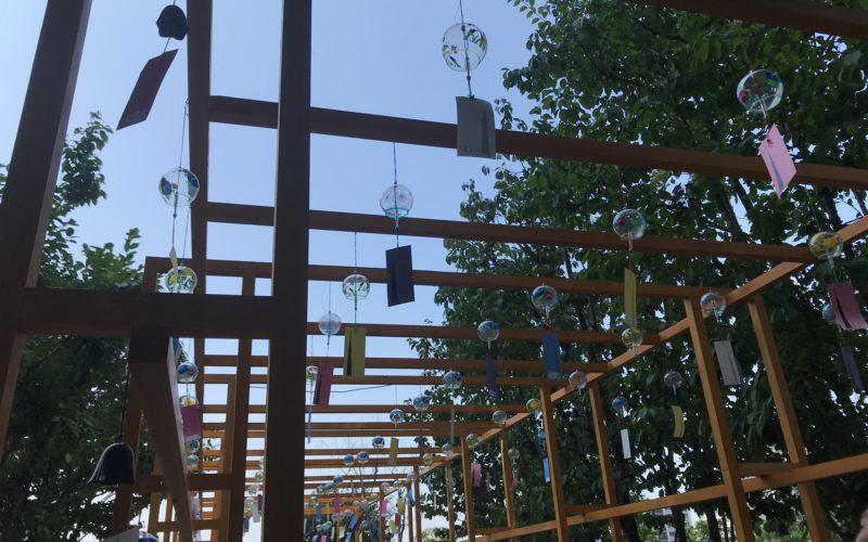 東京スカイツリー4Fのスカイアリーナで開催していた「ふうりんこみち」の会場内