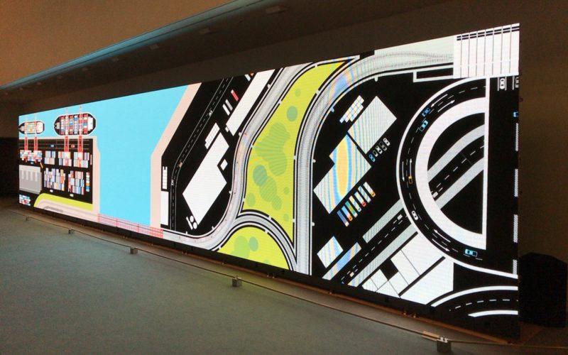 スパイラルガーデンで開催されていたグルーヴィジョンズ 5×27のギャラリーの展示