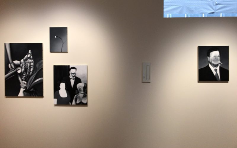 コンプレックス665の1Fに展示されていた五木田智央 Holy Cowの作品