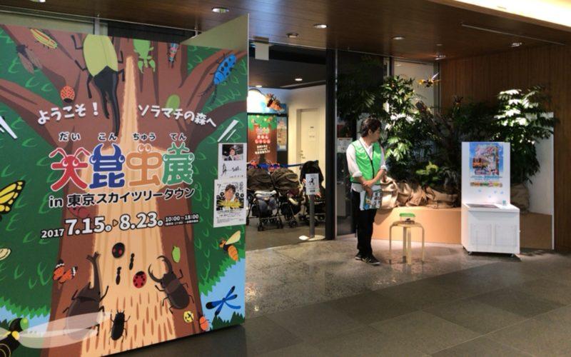 東京ソラマチ5Fのスペース634で開催した大昆虫展 in 東京スカイツリータウンの会場入口