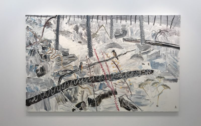 コンプレックス665・2Fの小山登美夫ギャラリーで開催したキム・チョンハクさんの個展の展示作品
