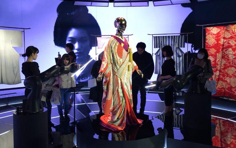 表参道ヒルズ本館B3Fのスペース オーで開催したイベント「KIMONO ROBOTO 伝統が織りなす未来」に展示していたキモノロボット