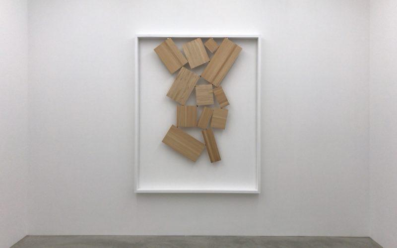 コンプレックス665 2Fの小山登美夫ギャラリーで開催していた菅 木志雄「分けられた指空性」の展示作品