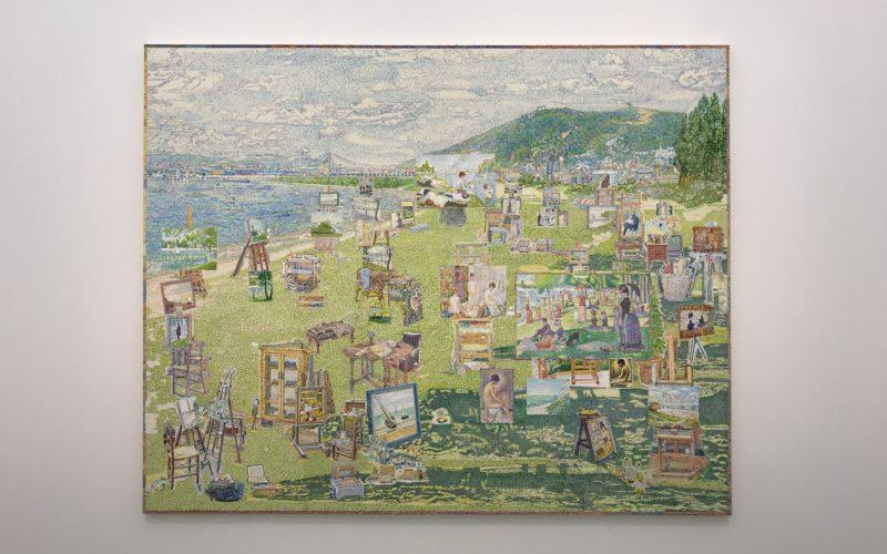 小山登美夫ギャラリーで開催した桑久保徹「A Calendar for Painters Without Time Sense 1.3.4.5.7.8」に展示していたジョルジュ・スーラのスタジオ