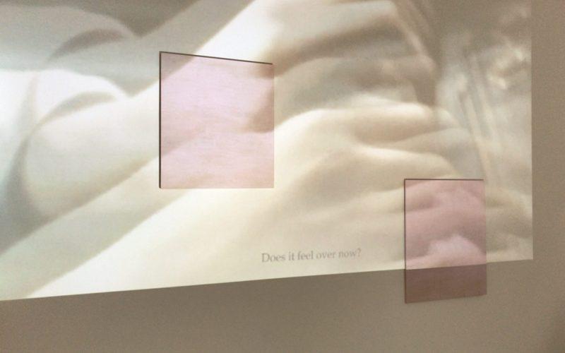 LEE Kit Not untitledの壁に投映していた映像作品