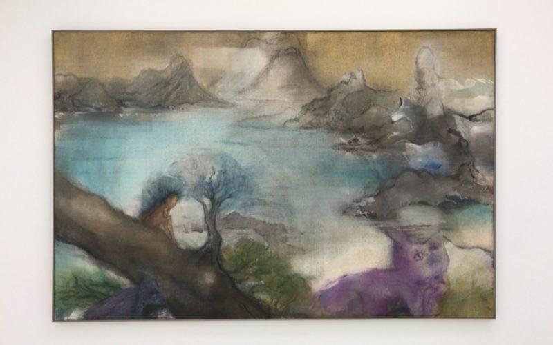 シュウゴアーツで開催した「イケムラレイコ あの世のはてに」の会場内に展示していた絵画