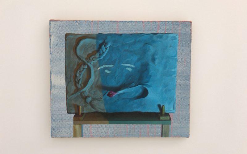 コンプレックス665の2Fにあるシュウゴアーツで開催した千葉正也個展に展示していた絵画「キスしたい気持ち」