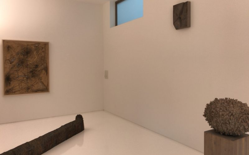 シュウゴアーツで開催されていた戸谷成雄 森 Xの展示作品