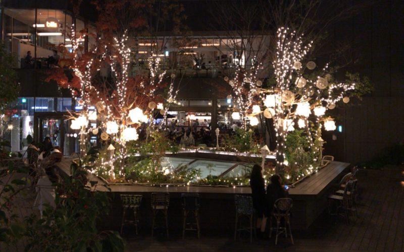 東急プラザ表参道原宿の屋上 おもはらの森で開催したOMOHARA illumination