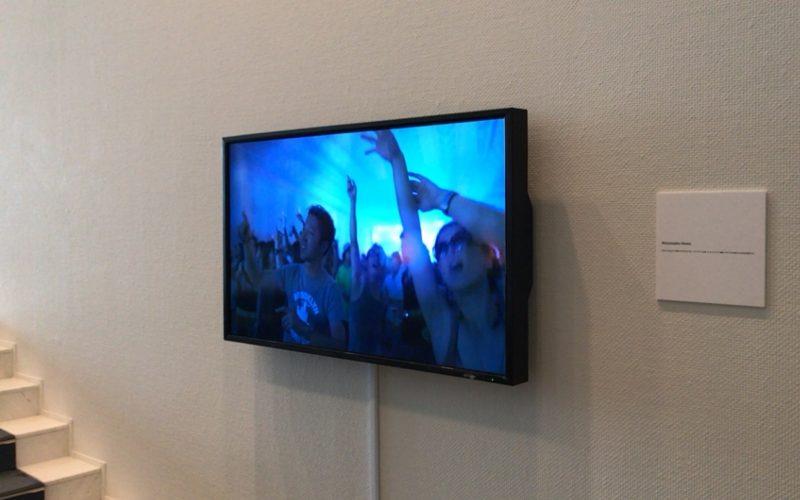 スパイラルガーデンで開催されたライゾマティクス創設10周年記念展 Rhizomatiks 10で上映されていた映像